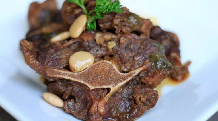 Oxtail with Broad Beans image